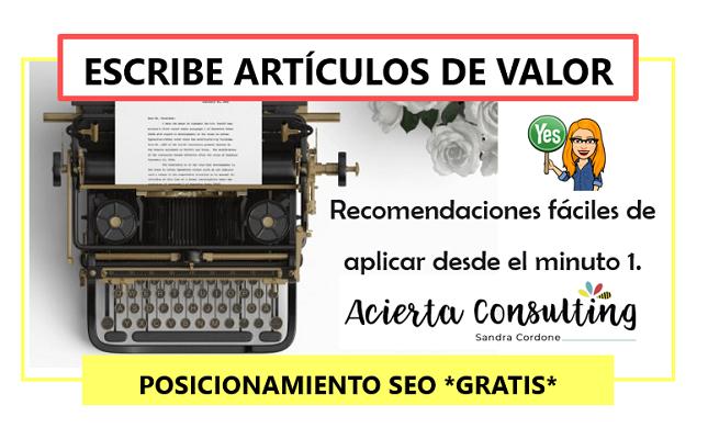 Escribe artículos impresionantes para tu Blog