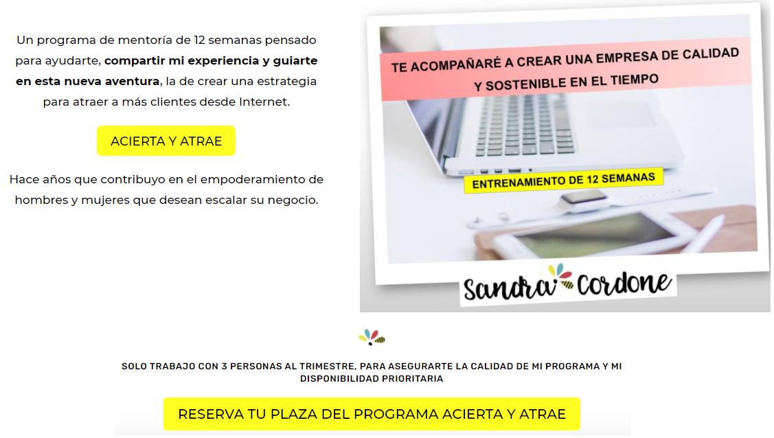 Acierta y Atrae_Sandra Cordone Acierta Consulting